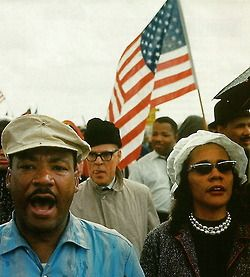 MLK and Coretta Scott King. Americans.
