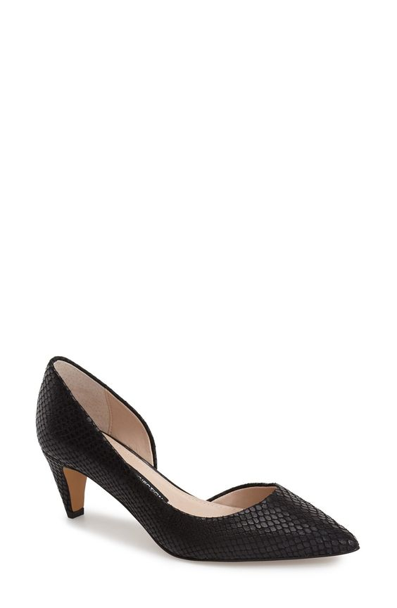 French Connection 'Kandy' Half d'Orsay Pointy Toe Pump (Women)
