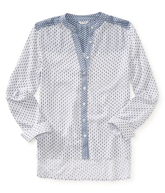 Long Sleeve Mix Print Shirt from Aeropostale