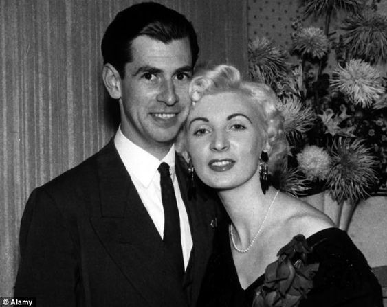The lover and his killer: Ruth Ellis poses with the man she loved and later killed, David Blakely, a crime for which she was hanged in 1955
