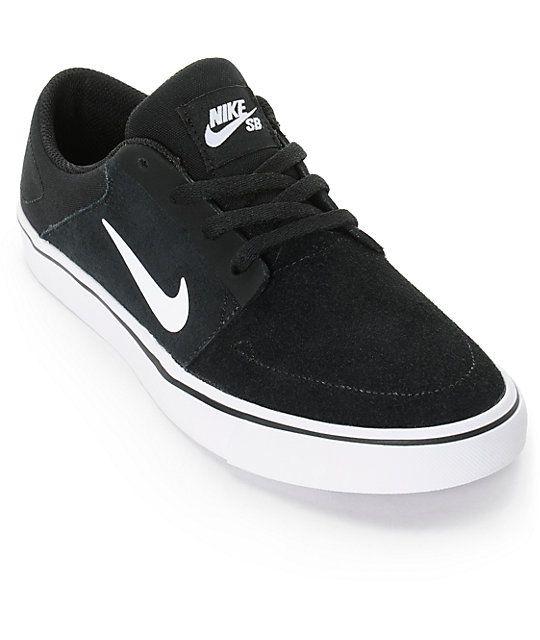 Nike SB Portmore Black & White Boys Skate Shoes | Nike, Nike sb ...