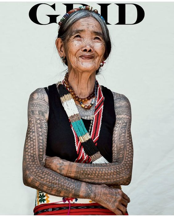Whang-od, tatoo artist of Kalinga, Philippines