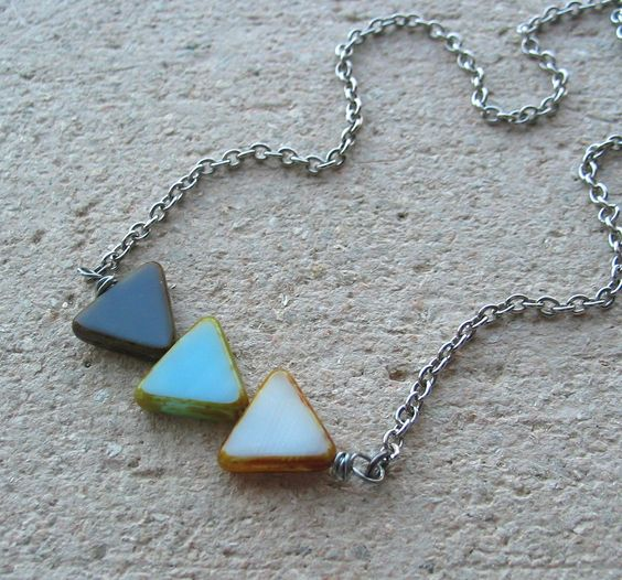triangle necklace - renee loughlin on designs etsy