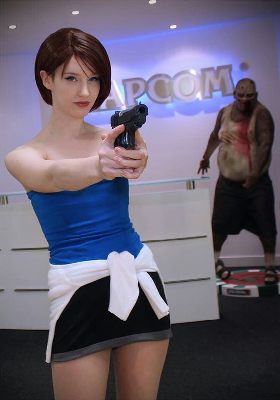 Resident evil jill valentine cosplay nude
