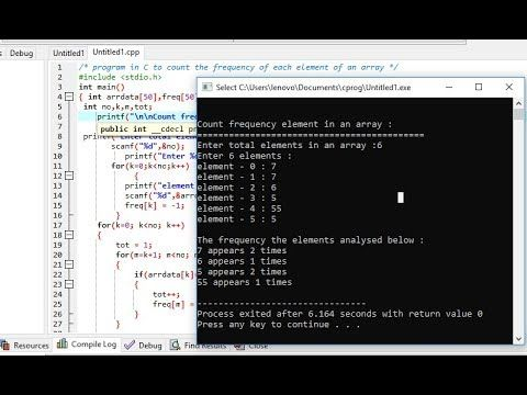 Program In C To Count The Frequency Of Each Element Of An Array