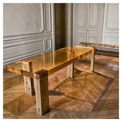 Wood Fossil table by Nucleo, Piergiorgio Robino and Stephania Fersini - epoxy resin ...