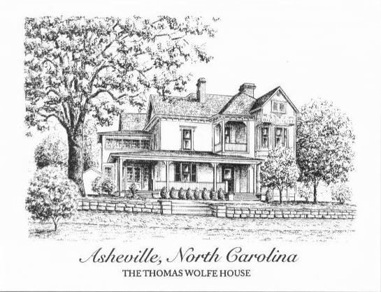 Thomas Wolfe Home | ... cards, same design of the historic Thomas Wolfe House in Asheville, NC:
