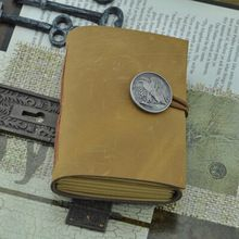 2014 mini A7 vintage retro handgemaakte lederen journal notebook kraft blanco papier dagboek boek voor geschenken gratis verzending 059(China (Mainland))