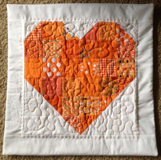 Orange Heart Pillow Cover. The Doodles of my Mind... : October 2014