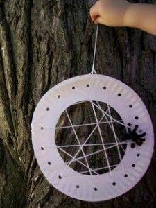 Preescolar Artesanía araña al aire libre