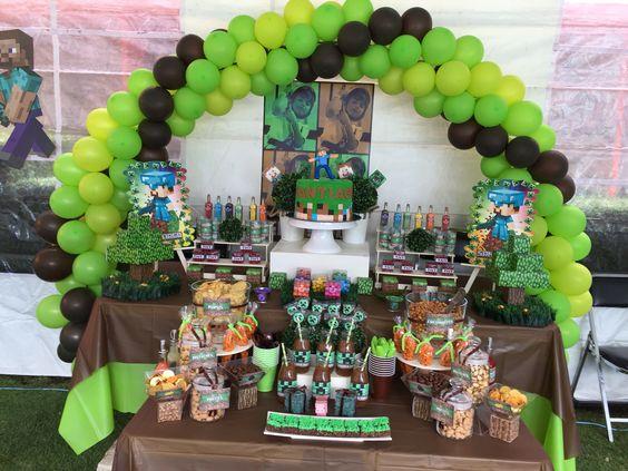 Mesa de dulces Minecraft