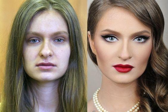 Ensaio mostra fotos do antes e depois da maquiagem