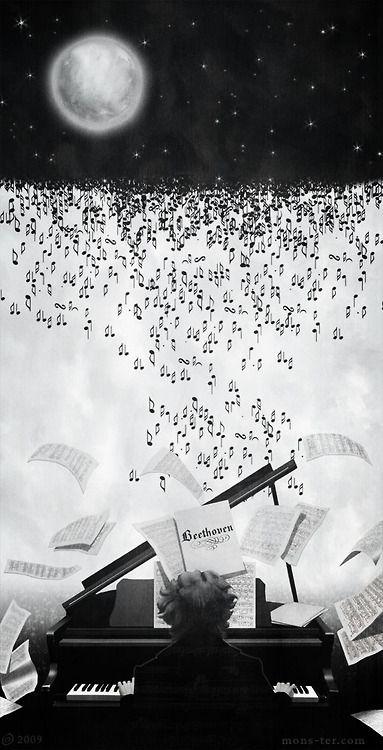 Me Recuerda Claro De Luna Arte Y Musica Ilustracion Musical