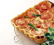 Tomatenwähe mit Quarkguss