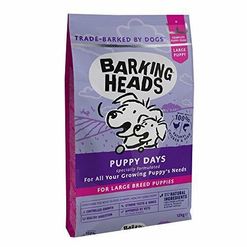 Details About Barking Heads Dog Food Large Breed Puppy Days Little