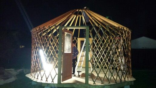 Building a Yurt this is the frame