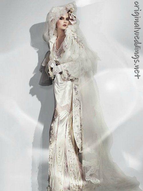 Bride gown by John Galliano (found this on http://originalweddings.net )