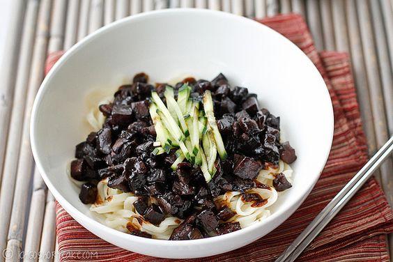 JJa jang myeon – a Korean noodle dish. w/ step by step photos