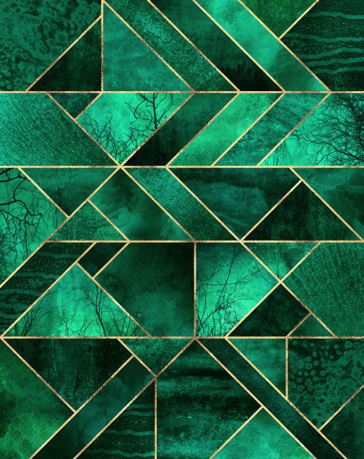 Abstract Nature , Emerald green in 2019
