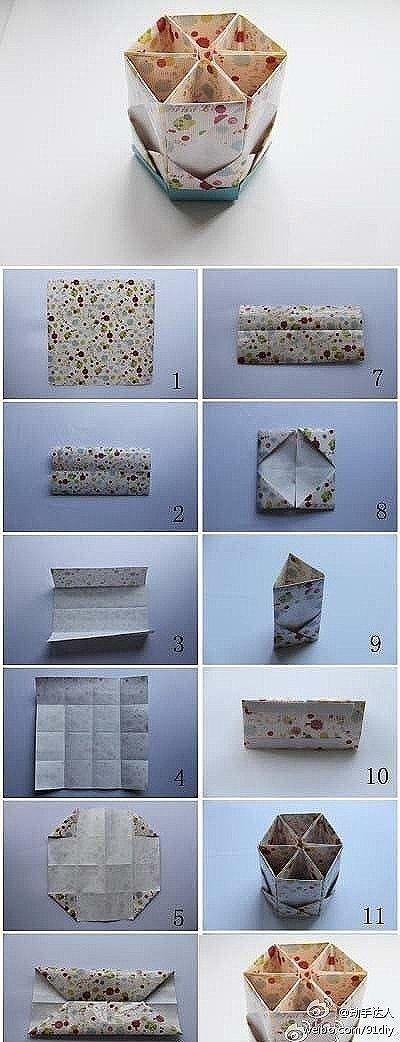 Hexagon box, Hexagons and Origami