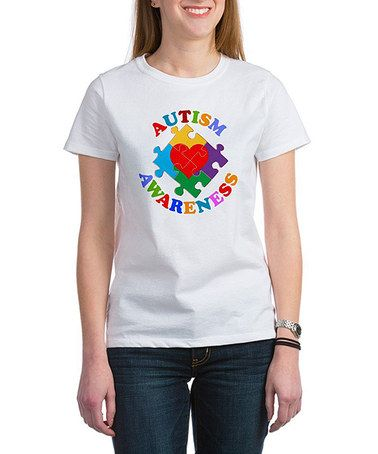 Look what I found on #zulily! White 'Autism Awareness' Tee - Women by CafePress #zulilyfinds