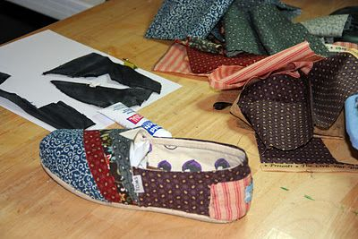 DIY Fabric-Covered Toms WITH instructions!