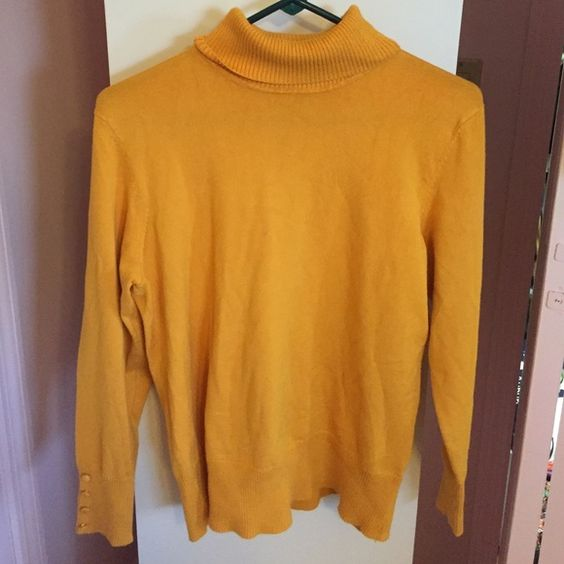 Mustard Turtle Neck N perfect condition, I only wore it once. It is super soft! Spense Sweaters Cowl & Turtlenecks