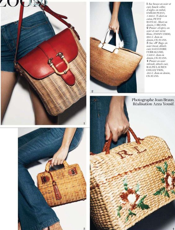 Vintage, Straw bag and Straws on Pinterest