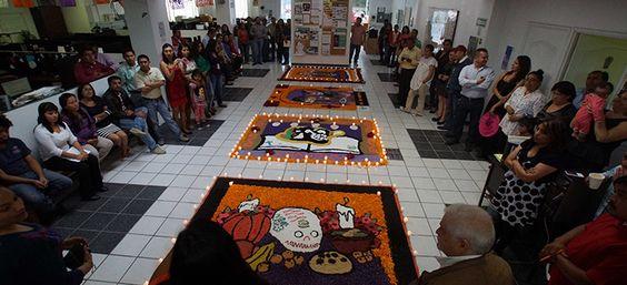 Preserva el IEBO la tradición del Día de Muertos mediante concurso de tapetes