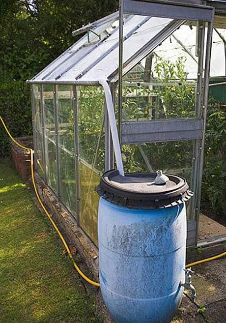 Greenhouse guide: 13 incredibly useful tips. If you want the luxury of an in-greenhouse mains supply, some plumbing is needed. A greenhouse roof harvests a surprising volume of rainwater, so store it in butts. Watering techniques range from devotional use of a watering can to a semi-automatic system if you're away from home a lot.- Telegraph