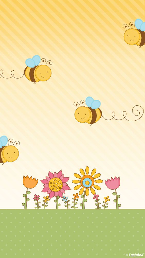 Cute Bee iPhone Wallpaper Color Glitter Sparkle Glow