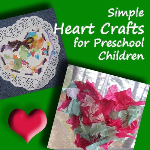 Fun for most kids, these Simple Heart Crafts for Preschoolers are easy peasy and adorable to make for Valentine gifts or Mother's Day. Designed by Lee Hansen.
