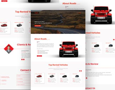 """Check out new work on my @Behance portfolio: """"Rent A Car Company Web Design"""" http://be.net/gallery/33987756/Rent-A-Car-Company-Web-Design"""