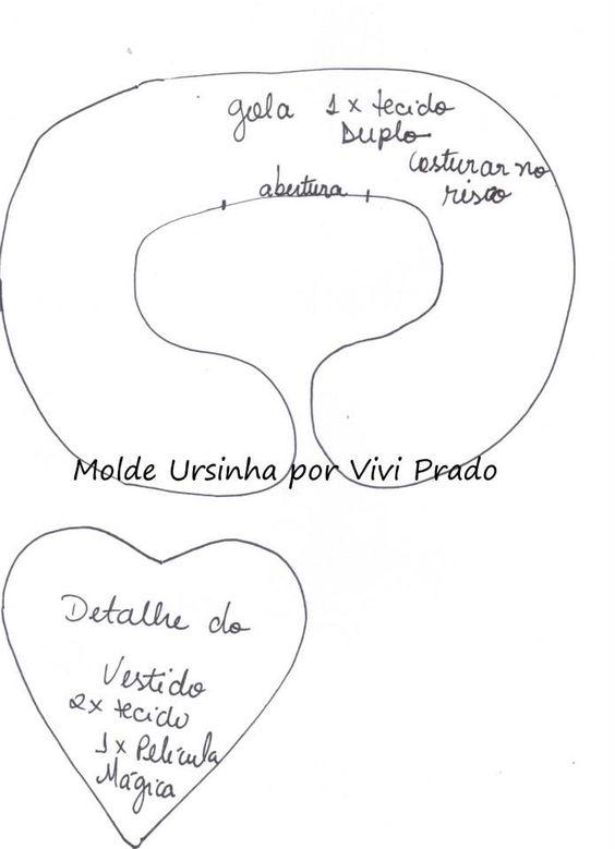 Molde Ursinha por Vivi Prado