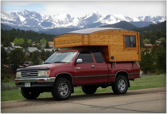 Home built truck camper plans or small camper with for Cabover house plans