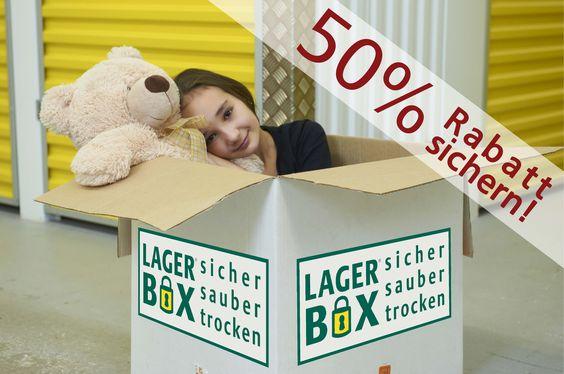 Bei LAGERBOX purzeln die Preise!!  LAGERBOX Essen gewährt 50% Rabatt auf alle Lagerräume. Schnell zugreifen und günstig Selfstorage Lagerraum bei LAGERBOX in Essen sichern.