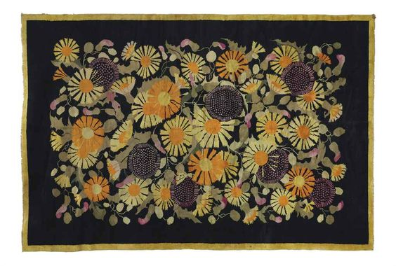 ATTRIBUTED TO PAUL POIRET (1879-1944) A SAVONNERIE CARPET, CIRCA 1930 hand-knotted wool 14 ft. 9 in. x 9 ft. 10 in. (177 x 118 cm.)