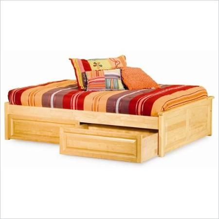 Atlantic Furniture Concord Raised Panel Twin Daybed in Natural Maple