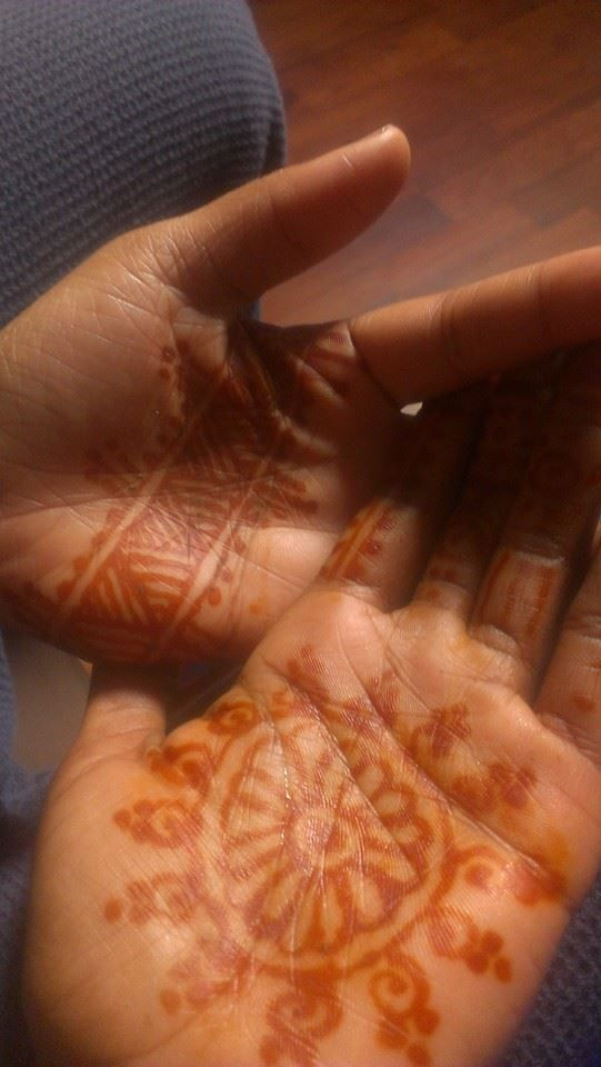 "My henna designs at an event ""Yeyo Arts"""