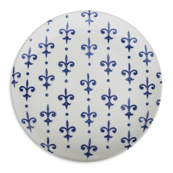 Fleur De Lys Salad Plate | Sur La Table