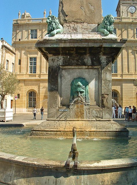 Arles, France-visited here with Jason and have photos of this very same fountain.