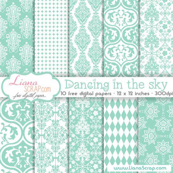 Free digital paper pack – Dancing In The Sky Set - http://www.lianascrap.com/free-digital-paper-pack-dancing-in-the-sky-set/
