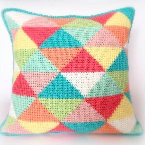 Les Triangles tunisienne PDF tunisien Crochet par PoppyandBliss