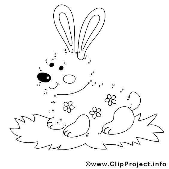 Osterhase Zahlenbild Zu Ostern Ostern Zeichnung Ostern Kindergarten Ostern Kinder