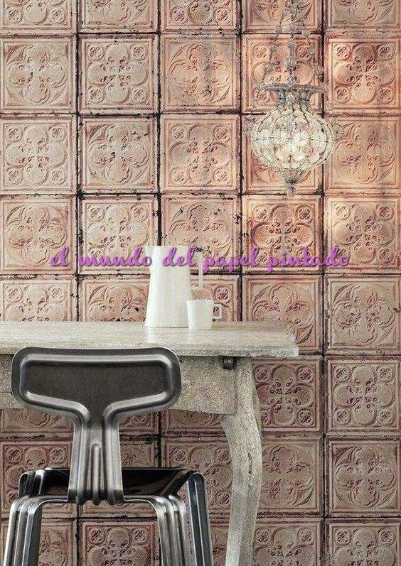 BROOKLYN TINS Inapirada en los techos de estaño que eran tradicionalmente pintados de blanco para dar la apariencia de yeso tallados a mano o moldeado en América netre 1890 y 1930.
