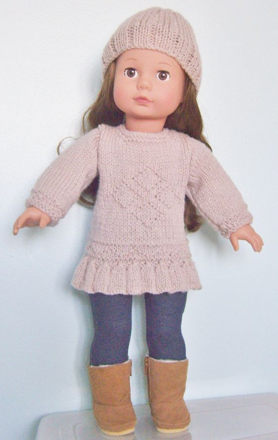 18 Doll Knitting Patterns : Knitting pattern for 18