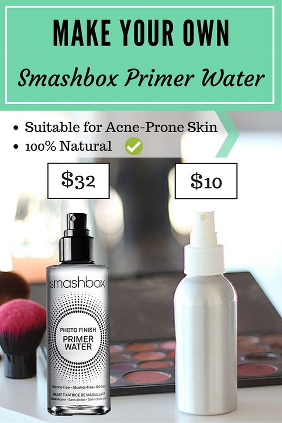 diy smashbox primer water / makeup setting spray