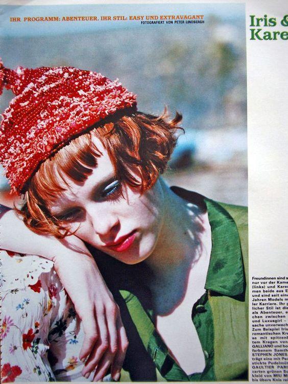 Marie Claire DE - Karen Elson & Iris Palmer - Mar 1997 Photos PETER LINDBERGH