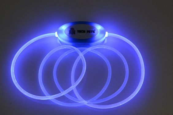 TECH PETS® Fiber Optic Collar.Blue.Safety and Beauty For All®.Let´s Have Fun!® www.techpets.co.uk www.instagram.com/techpets