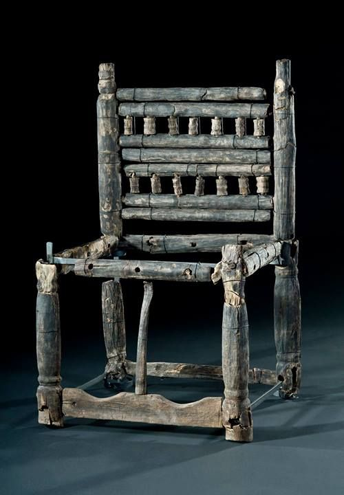 Trossingen grave 58 Maple lathed construction chair. (Archaeological Museum of Baden-Württemberg. Photo: Manuela Schreiner)